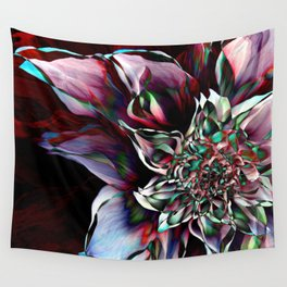 Watercolor Flower Abstract Wall Tapestry