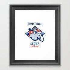 Baseball Divisional Series Finals Retro Framed Art Print