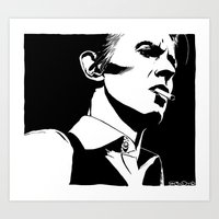 Vodka Melancholy Bowie Art Print