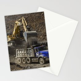 Earth Movers Stationery Cards