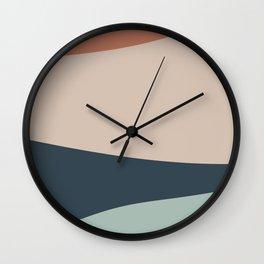 Cascade Color Block Wall Clock
