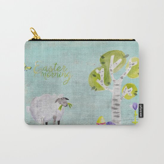 Easter Morning- Animal Sheep - for children Carry-All Pouch
