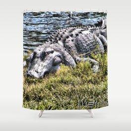 Resting Gator Shower Curtain