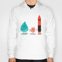 water color Hoodies featuring Water + color by Coconutman