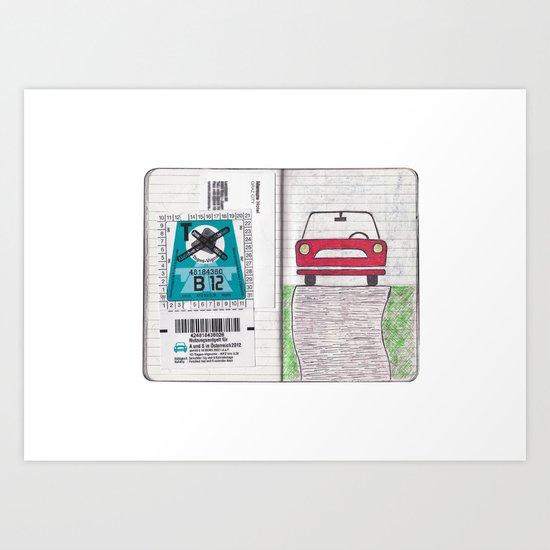 Roadtrip to Austria Art Print