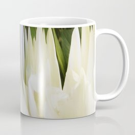 501 - White Peony Abstract Coffee Mug