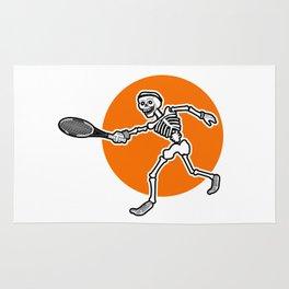 Calavera playing Tennis Rug