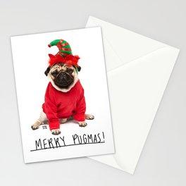 Merry Pugmas 3 Stationery Cards