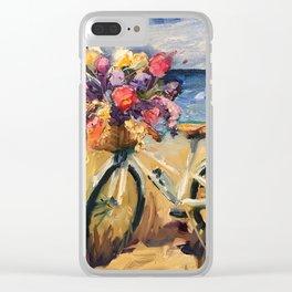 Beach Beauty Bike on the Beach Clear iPhone Case