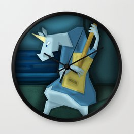 Old Guitarist Unicorn V02 Wall Clock