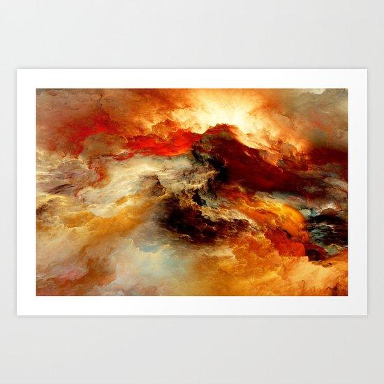 Cloud of Colors Art Print