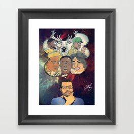 the thinking man Framed Art Print