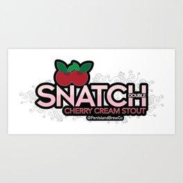 Snatch Double Cherry Cream Stout Art Print