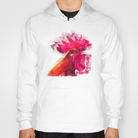 rooster Hoodies featuring Rooster by jbjart