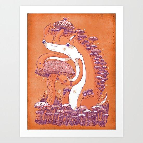 The Mushroom collector Art Print