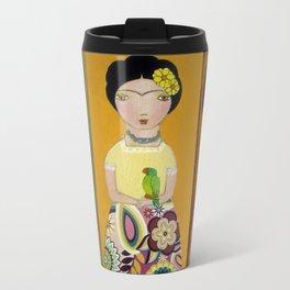 Las Tres Fridas by Flor Larios Travel Mug