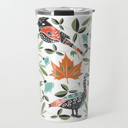 Canadian Maple Folk Art Travel Mug