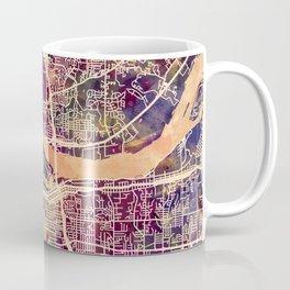 Quad Cities Street Map Coffee Mug