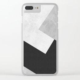 Modern Gray Art IV Clear iPhone Case