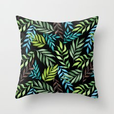 Tropical leaf pattern. Watercolor Throw Pillow
