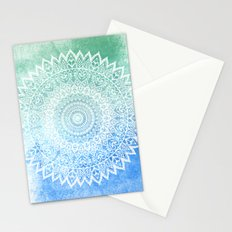 OCEAN PASSION LEAVES MANDALA Stationery Cards
