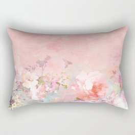 Modern blush watercolor ombre floral watercolor pattern Rectangular Pillow