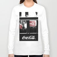 coca cola Long Sleeve T-shirts featuring coca cola by Crimson Crazed