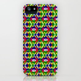 Blue Green Tile iPhone Case
