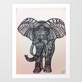 zen elephant Art Print
