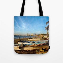Mazatlan Beach & Boats Tote Bag