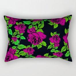 ROSES ROSES PINK AND GREEN Rectangular Pillow