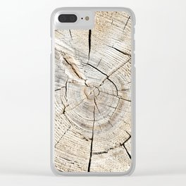 Wood Cut Clear iPhone Case