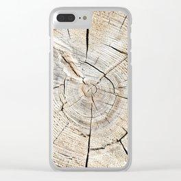 Wood Cut Clear iPhone Case
