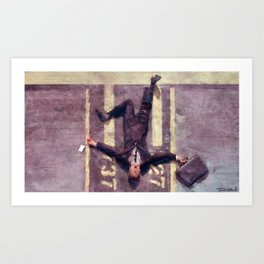 Lloyd Christmas Fell Off The Jetway Again - Dumb And Dumber Art Print