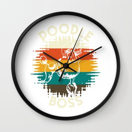 Poodle Boss Dog Wall Clock