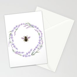 Lavender Bee Stationery Cards