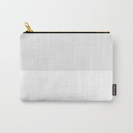White and Pale Gray Horizontal Halves Carry-All Pouch