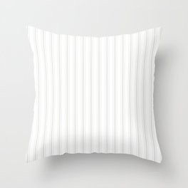 Creamy Tofu White Mattress Ticking Wide Striped Pattern - Fall Fashion 2018 Throw Pillow