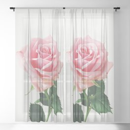 Spring Rose Sheer Curtain