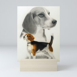 Beagle Portrait Mini Art Print
