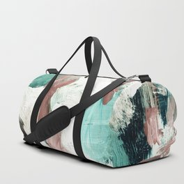 abstract painting VI - green & dusty pink Duffle Bag