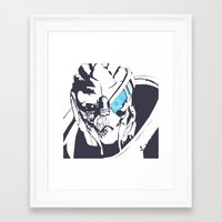 garrus Framed Art Prints featuring Garrus by Bailey Anderson