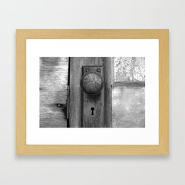 Door Knob Framed Art Print