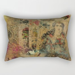 Abstract  Vintage Playing Cards Digital art Rectangular Pillow