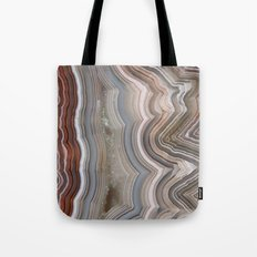 Striped Agate Crystal Tote Bag
