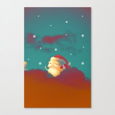 Santa Clouds Canvas Print