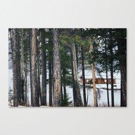 Hidden Cabin  Canvas Print