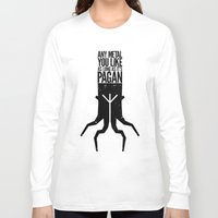 pagan Long Sleeve T-shirts featuring Any metal you like as long as it's Pagan. by Sparganum