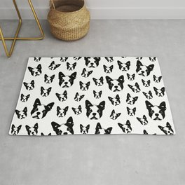 CHRISTMAS GIFTS for the Boston Terrier lover from MONOFACES in 2020 Rug