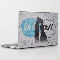 okay Laptop & iPad Skins featuring Okay.  by Oksana's Art